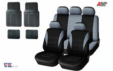 GREY CAR SEAT COVERS & RUBBER CAR MATS SET FOR VAUXHALL CORSA ASTRA VECTRA