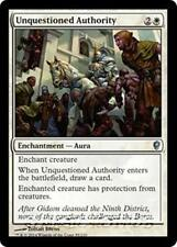 UNQUESTIONED AUTHORITY Conspiracy MTG White Enchantment — Aura Unc