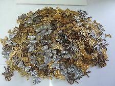 Brass stampings findings RIBBONS & BOW 1/8# LOT buy one get one FREE