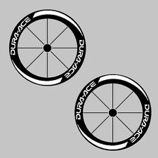 Dura ACE Deep RIM CARBONIO BICI / Bicicletta / Cycle Ruota Adesivo Decalcomania KIT 50mm