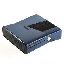 BLU spazzolato metallo effetto XBOX 360 SLIM Decalcomania Adesivo SKIN COVER Wrap