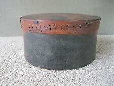 """Antique Pantry Box Old Orig Paint Pine Wood 10"""" x 5-1/4"""" Nails Pegs Thick Walled"""