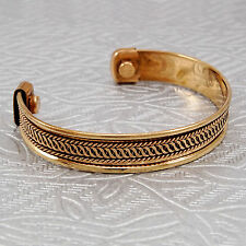 Adjustable Solid Copper Cuff Unisex Bracelet Arthritis Pain Reliever Therapy