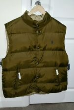 Ralph Lauren Polo Puffy chaleco de botón frontal reversible Talla XL
