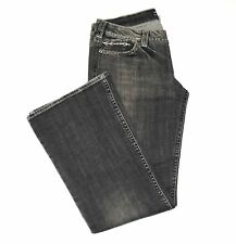 Silver Jeans Flare Black Thick Stitch Button Pockets Distressed Sz 34