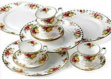 Old Country Roses 12 Pc Dinnerware Set Service for 4 Dining Bone China Dishes