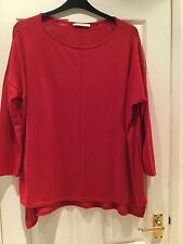George Red Fine Knit Tunic with Centre Seam Detail -  Sz 16 (loose fit)