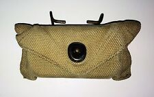 WW2 US ARMY M1924 FIRST AID POUCH with CARLISLE DRESSING TIN