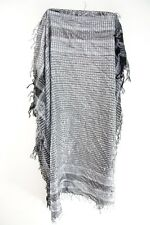 GREY / SILVER INFUSED PLAID FLANNEL  STYLE TASSELED STATEMENT SCARF (MS41PT2/3)