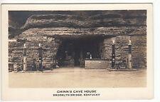 RPPC - Brooklyn Bridge, KY - Chinn's Cave House - Service Station - 1930s
