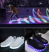 LADIES WOMENS LIGHT UP LUMINOUS LED LACE UP TRAINERS CELEB SNEAKERS SHOES SIZE