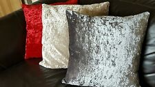 SHOP AT NEXT ? MetallicEffect   SILVER GREY Crushed Velvet 22in Cushion Cover