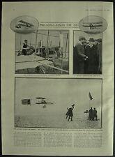Henry Farman Longest Flight Deutsch Archdeacon Prize 1 Page Photo Article