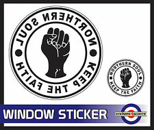 "Northern Soul Sticker White Decal Reverse Window Sticker 180mm 7"" VW Camper  ws6"