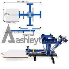 4 Color 1 Station Silk Screen Printing Press Printer DIY T-Shirt Flat Surface