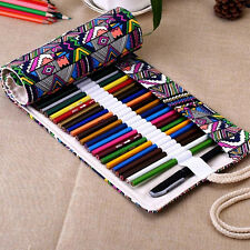 School Pencil Case Escolar Box Lovely Stationery Canvas Pen Roll Up Bags