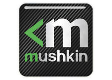 "Mushkin 1""x1"" Chrome Domed Case Badge / Sticker Logo"