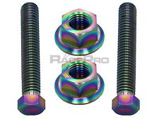 RacePro - Rainbow Titanium Axle Chain Adjuster Bolts - Yamaha Wr250X 09