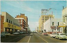 1st Avenue Looking West From Post Office in Billings MT Postcard 1967