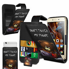 For Motorola RAZR HD XT925 - (Bear) Clip On PU Leather Flip Case Cover