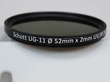 Schott UG-11 52mm UV-IR dual bandpass filter for Ultraviolet UV photography