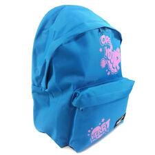 Mochila escolar CUQUI 24 litros turquesa con escritura rosa intenso 2 bolsillos