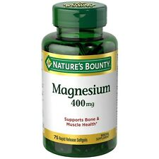 Nature's Bounty Magnesium 400 mg Softgel 75 ea (Pack of 5)