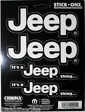 jeep stick on 4 sticker decal printed suv 4x4 mopar mud run its a jeep thing