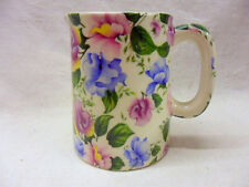Pink and blue sweetpea mini cream jug pitcher jug by Heron Cross Pottery