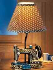 Sewing Machine Tabletop Lamp Gingham Shade Desktop Lamp Sewing Room Accent Decor