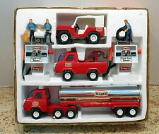 BUDDY L TEXACO BRUTE HIGHWAY TRUCK STOP 8 PC SET IN ORIGINAL BOX NOS
