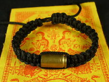Buddha BULLET SAI SIN BRACELET blessed Buddhist Monk for PROTECTION + PHA YANT