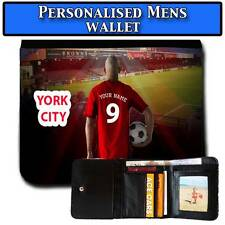 Mens Unoffical Personalised YORK CITY Football Wallet Gift