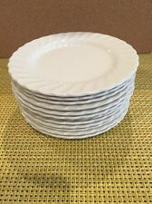 Set Of 12 Johnson Bros Ironstone White Swirl Regency Bread & Butter Plates  NEW