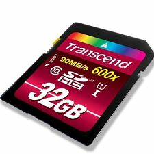 TRANSCEND SD 32GB (SDHC) (U1) Flash Memory Card (Classe 10) CANON EOS 1200D