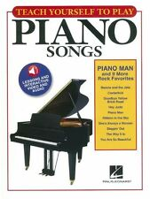 Teach Yourself To Play Piano Songs Piano Man Rock MUSIC Book & Online Media