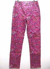 DG2 Stretch Denim Paisley Print Skinny Jeans HOT PINK 4T 4 Tall NEW WITH TAGS