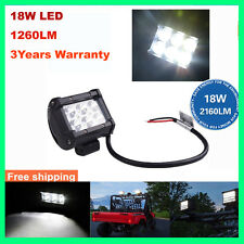 "4"" 18W CREE LED WORK LIGHT BAR SPOT FLOOD OFFROAD DRIVING LAMP SUV UTE 12V 24V"