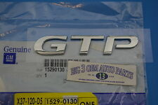 2006-2007 Pontiac G6 GTP Trunk Rear Chrome Nameplate Emblem new OEM 15290130