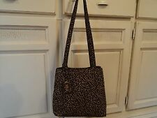 NINE WEST Waterproof Nylon Cheetah/Leopard Shoulder Hand Bag GIFT animal purse