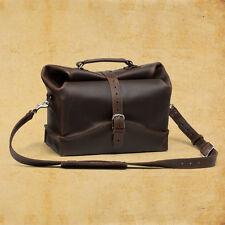Leather Men's gift Duffel rolltop  travel  Messenger backpack Shoulder Bags