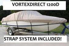 NEW VORTEX SUPER HEAVY DUTY 1200D BEIGE/TAN 19' FISHING/SKI/RUNABOUT/BOAT COVER