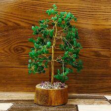 Aventurine Tree Gemstones Reiki Spiritual Feng Shui Vastu Bonsai Table De CD1854