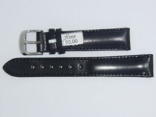 FLUCO Genuine Shell Cordovan HORWEEN Leather Watch Band 18 mm Black 50% OFF
