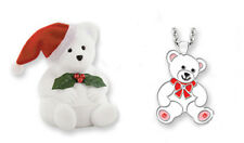 CHILD'S CHRISTMAS BEAR NECKLACE IN MATCHING BOX (BN059)
