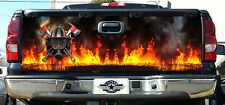FIREFIGHTER / FIRE DEPT. FIRE RESCUE MALTESE CROSS TAILGATE DECAL WRAP VINYL