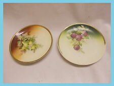 """2 Vintage Germany Decorative Plate plums and pears  fruit small 6 1/4"""""""