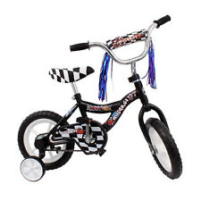 "Micargi MBR 12"" Bike Kids Boys BICYCLE w Training Wheels Streamers BLACK + BONUS"