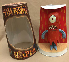 "Tim Biskup SIGNED 8"" & 4"" Red Helper Set AUTOGRAPHED 2004 Critterbox SKETCH NEW"