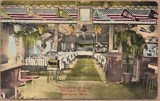 Muskegon Michigan, Lake Michigan Park Restaurant, 1917 Adv. Postcard, Phonograph